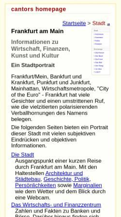 Vorschau der mobilen Webseite www.k-faktor.com, Stadtporträt Frankfurt