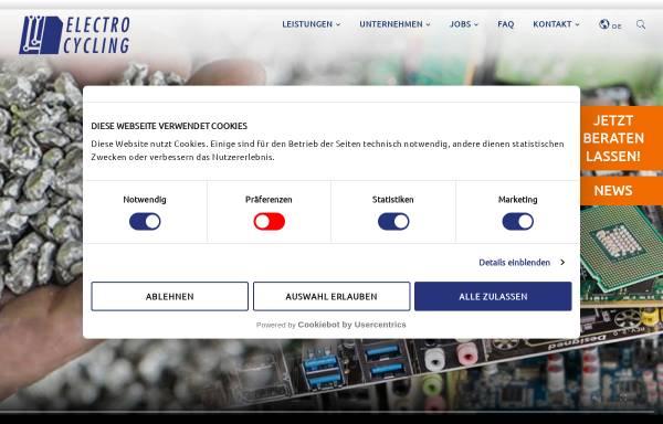 Vorschau von www.electrocycling.de, Electrocycling GmbH