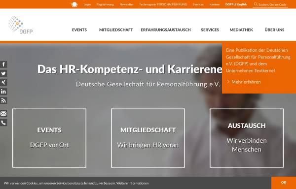 Vorschau von www.dgfp.de, Deutsche Gesellschaft für Personalführung e.V.