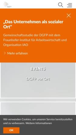 Vorschau der mobilen Webseite www.dgfp.de, Deutsche Gesellschaft für Personalführung e.V.
