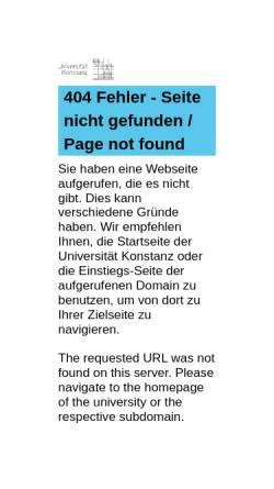 Vorschau der mobilen Webseite www.uni-konstanz.de, Evaluation von Lehrmethoden und bildungspolitischen Maßnahmen