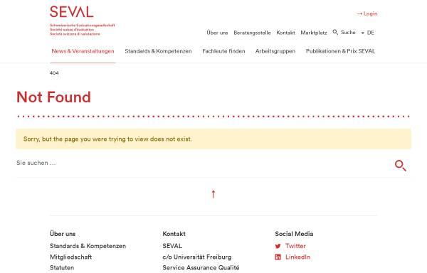Vorschau von www.seval.ch, Schweizerische Evaluationsgesellschaft (SEVAL)