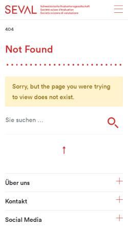 Vorschau der mobilen Webseite www.seval.ch, Schweizerische Evaluationsgesellschaft (SEVAL)