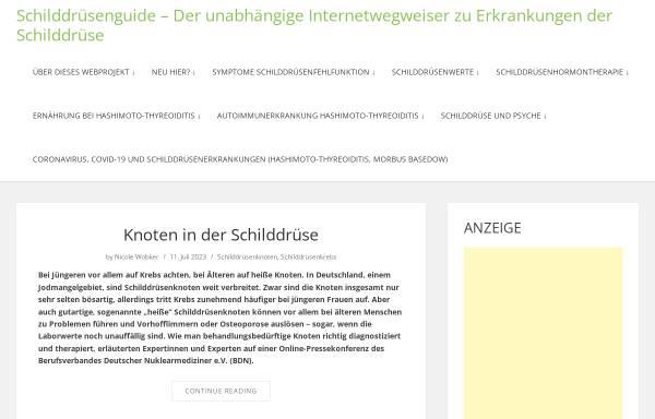 Vorschau von www.schilddruesenguide.de, Schilddrüsenguide