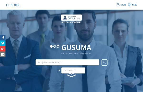 Vorschau von www.gusuma.de, Gutachtersuchmaschine by Suma Webtec GmbH + Co. KG