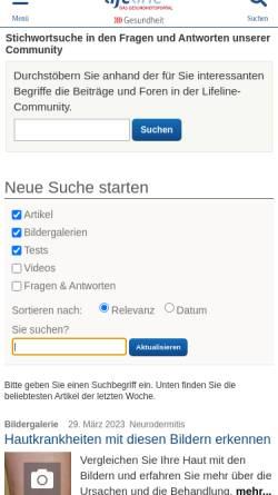 Vorschau der mobilen Webseite www.qualimedic.de, Bronchitis