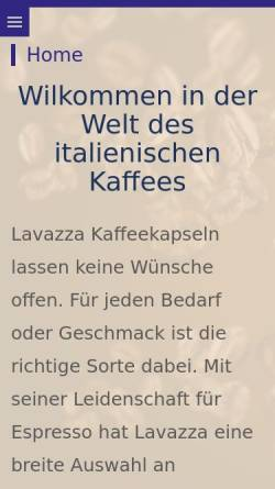 Vorschau der mobilen Webseite sturzenegger-hv.ch, Lavazza Point Sturzenegger