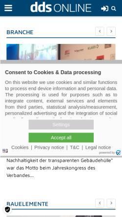 Vorschau der mobilen Webseite www.dds-online.de, DDS-Online