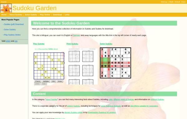 Vorschau von www.sudokugarden.de, Sudoku Garden