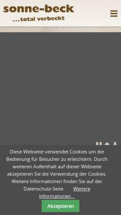 Vorschau der mobilen Webseite www.sonne-beck.ch, Sonne-Beck Holzofen AG