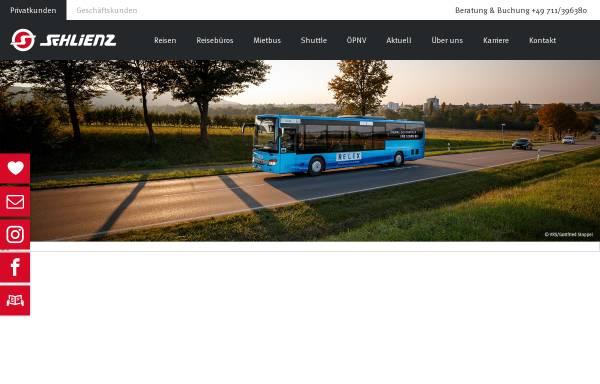 Vorschau von www.schlienz.info, Omnibus Schlienz Reisebüro GmbH & Co.KG