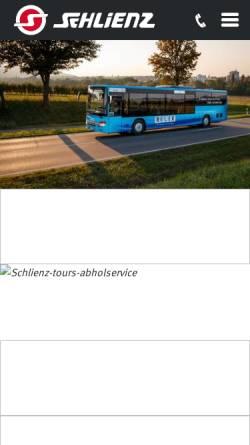 Vorschau der mobilen Webseite www.schlienz.info, Omnibus Schlienz Reisebüro GmbH & Co.KG