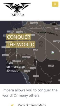 Vorschau der mobilen Webseite www.imperaonline.de, Impera Online