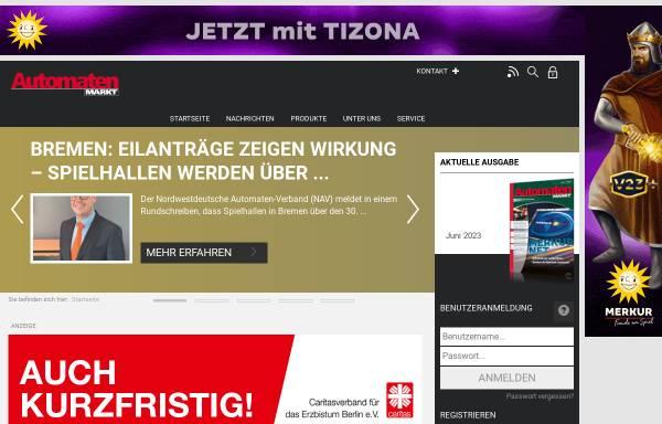 Vorschau von www.automatenmarkt.de, AutomatenMarkt - Sigert Verlag GmbH