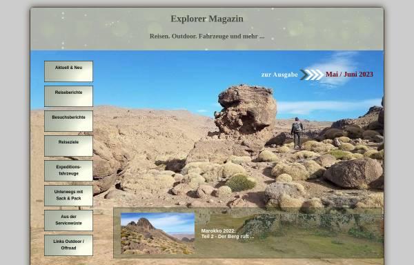 Vorschau von www.explorermagazin.de, Explorer Magazin