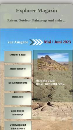 Vorschau der mobilen Webseite www.explorermagazin.de, Explorer Magazin