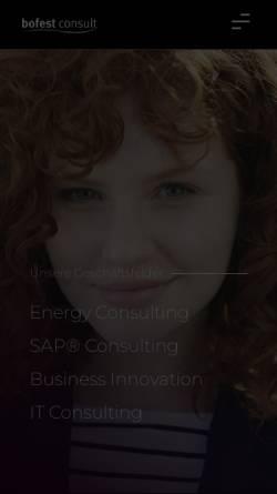 Vorschau der mobilen Webseite www.bofestconsult.com, Bofest Consult GmbH