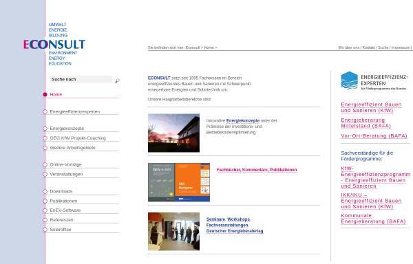 Vorschau von www.3econsult.de, Econsult Umwelt Energie Bildung GbR