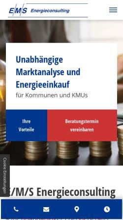Vorschau der mobilen Webseite ems-consulting.de, E/M/S Energieconsulting GbR