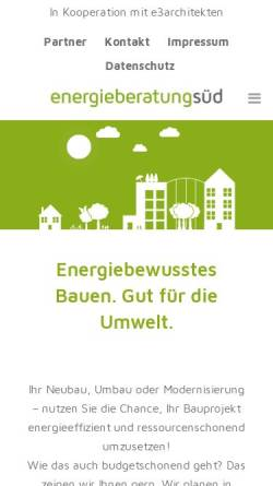 Vorschau der mobilen Webseite www.energieberatung-sued.de, Energieberatung Niedersachsen Süd