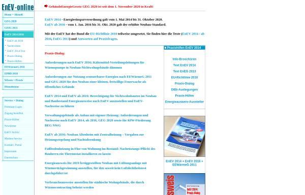Vorschau von www.enev-online.com, EnEV-Online: Energieeinsparverordnung für Gebäude