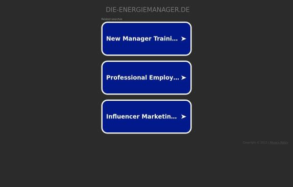 Vorschau von www.die-energiemanager.de, SE Scherbeck Energy GmbH