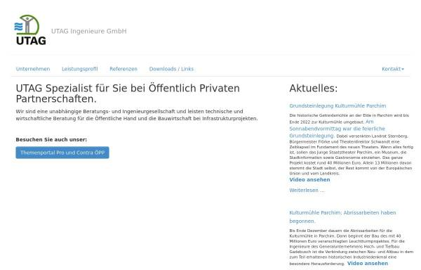 Vorschau von www.utag-ingenieure.de, UTAG Ingenieure GmbH