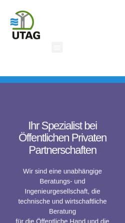 Vorschau der mobilen Webseite www.utag-ingenieure.de, UTAG Ingenieure GmbH