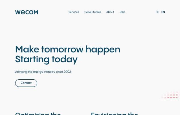 Vorschau von www.wecom.at, Wagner & Elbling GmbH