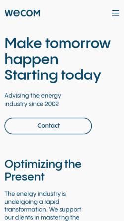 Vorschau der mobilen Webseite www.wecom.at, Wagner & Elbling GmbH