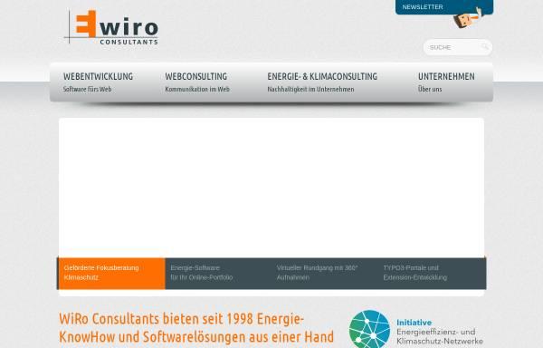 Vorschau von www.wiro-consultants.com, WiRo Energie & Konnex Consulting GmbH