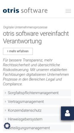 Vorschau der mobilen Webseite www.otris.de, otris software AG