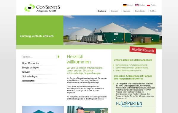 Vorschau von www.consentis.de, Consentis Anlagenbau GmbH