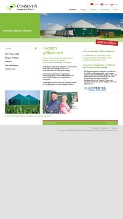 Vorschau der mobilen Webseite www.consentis.de, Consentis Anlagenbau GmbH