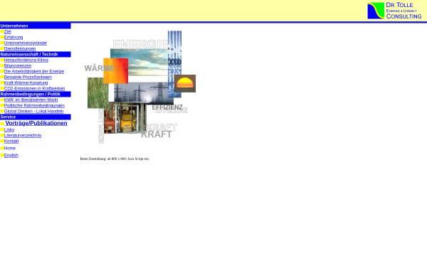Vorschau von www.tolle.de, Dr. Tolle Energie und Umwelt Consulting