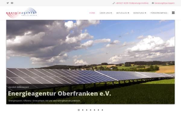 Vorschau von www.energieagentur-oberfranken.de, Energieagentur Oberfranken e.V.