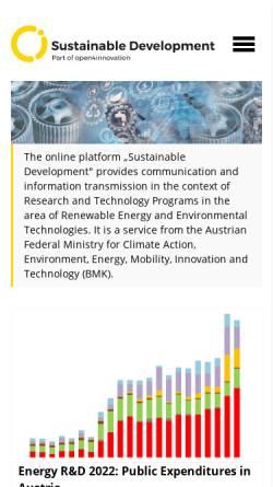Vorschau der mobilen Webseite www.energytech.at, Energytech.at