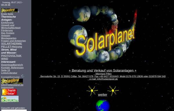Vorschau von www.solarplanet.de, Solarplanet - Meinhard Pillen