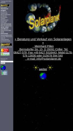 Vorschau der mobilen Webseite www.solarplanet.de, Solarplanet - Meinhard Pillen