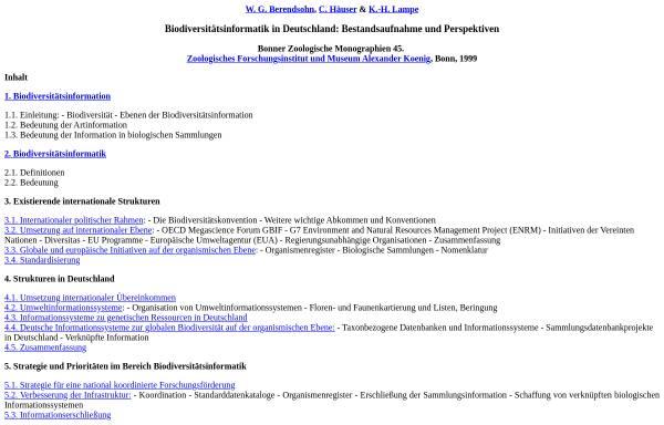 Vorschau von www.bgbm.fu-berlin.de, Biodiversitätsinformatik in Deutschland