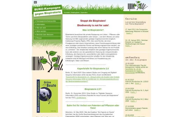 Vorschau von www.biopiraterie.de, Biopiraterie