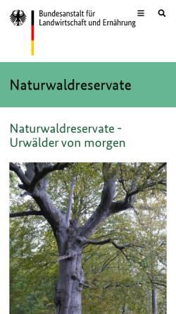 Vorschau der mobilen Webseite www.naturwaelder.de, Datenbank Naturwaldreservate in Deutschland