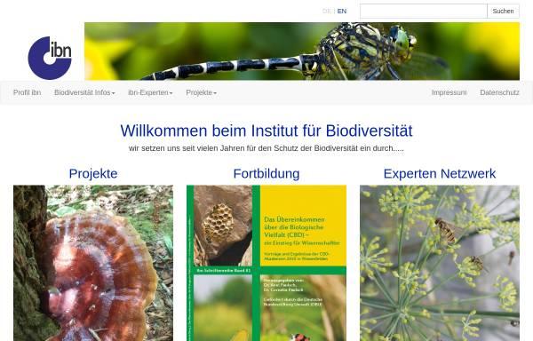 Vorschau von www.biodiv.de, Institut für Biodiversität - Netzwerk e.V.