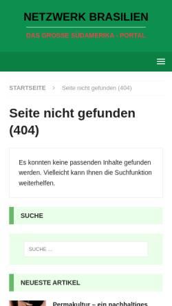 Vorschau der mobilen Webseite www.tropenwaldnetzwerk-brasilien.de, Was ist Biologische Vielfalt?