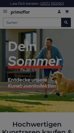 Vorschau der mobilen Webseite www.primaflor.de, Primaflor GmbH
