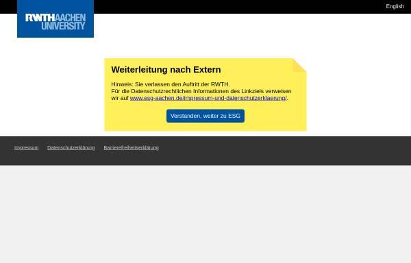 Vorschau von www.rwth-aachen.de, Evangelische Studierenden Gemeinde Aachen (ESG)