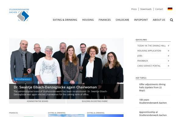 Vorschau von www.studentenwerk-aachen.de, Studentenwerk Aachen