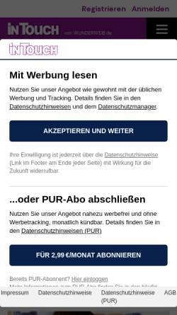 Vorschau der mobilen Webseite intouch.wunderweib.de, InTouch