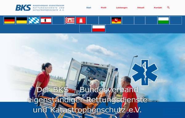 Vorschau von www.bks-rettungsdienst.de, BKS
