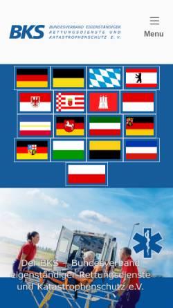 Vorschau der mobilen Webseite www.bks-rettungsdienst.de, BKS